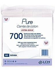 LCH Carrés de coton 5 x 5 cm Sachet de 700
