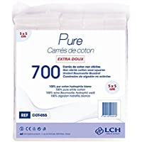LCH Optima Baumwolle quadratisch, 5x 5cm preisvergleich bei billige-tabletten.eu
