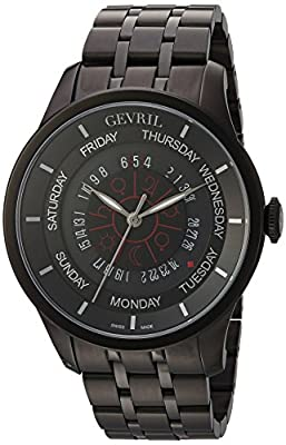 Gevril Men's Analogue Automatic-self-Wind Watch with Stainless-Steel Strap 2001B