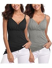 Joweechy - Camiseta sin Mangas - para Mujer