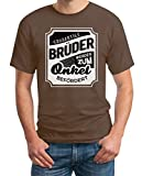 Shirtgeil Großartige Brüder Werden Zum Onkel Befördert - Geschenk Onkel T-Shirt Medium Kastanie