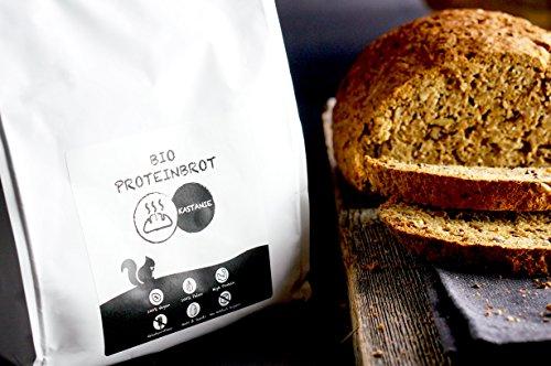 PALEO Brot-Backmischung: Kastanie & Mandel | Bio | Vegan | Getreidefrei, Gluten-frei | Eiweissbrot - 20% Protein | ohne Zuckerzusatz | Hergestellt in DE | Paleo To Go | Ergibt 4 Brote (1.8 kg) - 3