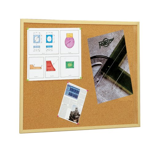 Faibo 607-2 - Tablero de corcho con marco de madera (40x60 cm)