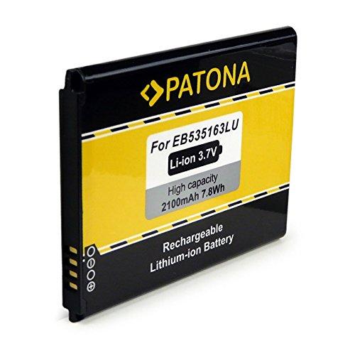 PATONA batteria EB535163LU | EB535163LA per Samsung Galaxy Grand Neo, i9060, Galaxy Grand, i9080, Galaxy Grand DuoS, i9082 [ Li-Ion, 2100mAh, 3.7 V ]
