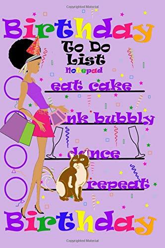 Birthday To Do List Notepad: Mini notebook Pocket Sized Birthday Card Alternative 4x6 -