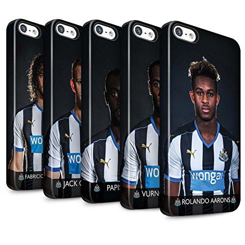 Offiziell Newcastle United FC Hülle / Matte Harten Stoßfest Case für Apple iPhone SE / Pack 25pcs Muster / NUFC Fussballspieler 15/16 Kollektion Pack 25pcs