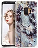 """Galaxy S9 Plus Case, Imikoko S9 Plus Marble Case Slim Anti-Scratch Shockproof Cover Glossy Finish Flexible Clear Transparent TPU Bumper Soft Case For Samsung Galaxy S9+/S9 Plus 6.2""""- Submerged Reef"""