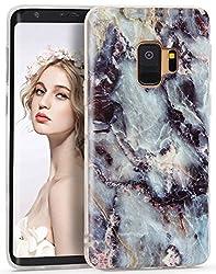 CIUTEK Galaxy S9 Plus Marmor Hülle, Matt Weich Silikon Handyhülle Schlank TPU Bumper Handytasche Flexible Schutzhülle Soft Back Protective Gummi Dünn für Samsung Galaxy S9 Plus