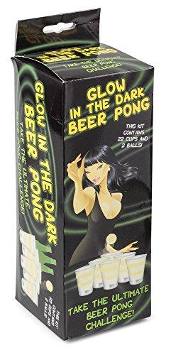 Leuchtendes Beer Pong Spiel