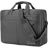 La bolsa de ordenador portátil de 15,6 pulgadas, BRINCH Maletín espacioso nylon bolsa de mensajero multi-compartimiento bolso de hombro bolsos de mano portátil, para Laptop 15–15,6 pulgadas, Gris