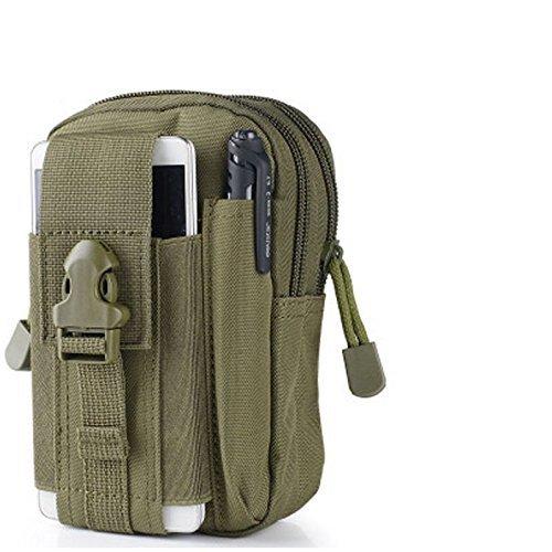 Newnet Taktische Nützlichkeit Saum Nylon Molle Reißverschluss Beutel Tasche, Outdoor Sport, wasserdicht) Militärgrün