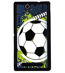 Printvisa Football The Greatest Sport Blue Backround Back Case Cover for Sony Xperia C3 Dual D2502::Sony Xperia C3 D2533