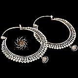 Pendientes de plata - Aretes de plata - pendientes de gitana - pendientes tribales - pendientes étnicos - pendientes indios - pendientes de declaración - Pendientes grandes - Joyas de plata - joyas tribales - Aros grandes
