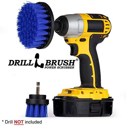 Drill Brush - Scrub Brush - Drill Brush Attachment - Cleaning Brush for Drill - Drill Brush Power Scrubber - Drill Brush Set - Boat Accessories - Hull Cleaner - Boat - Kayak - Canoe - Carpet Cleaner -