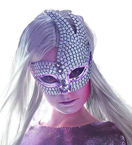 Boland 00286 - maschera mosaico venezia, argento