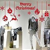 Noël Stickers Muraux,LUCKYCAT Amovibles Mur De Fenêtres 2018 En Vinyle De La Autocollants Maison DéCoration Merry Christmas Mode