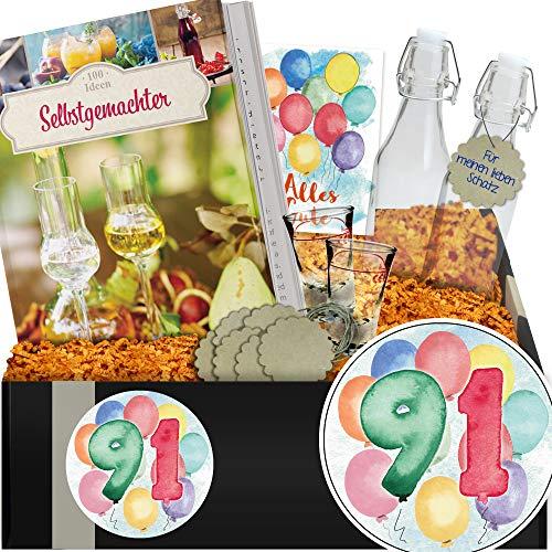 Geschenkidee 91. Jubiläum / Geschenkbox Angesetzter / Zum 91 Geburtstag Frauen