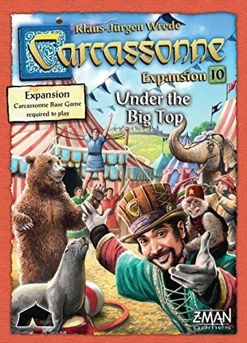 Z Man Spiele zmg7820 Carcassonne unter die Big Top Expansion Board Game