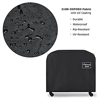 BEEWAY Barbecue Cover, BBQ Grill Cover Heavy Duty - 210D Oxford Fabric, Waterproof, Indoor Outdoor Rain Dust Protection with Self-stick Straps and Storage Bag