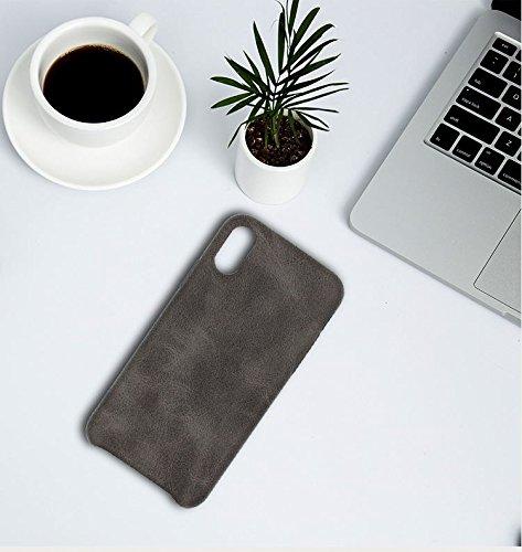Apple iPhone X 10 Hülle ZaPro® Deutschland Qualitätsgeprüft | Im Einzigartigen Leder-Look Design | Komplett-Schutz | Leather | In 3 verschieden Farben | Elegant & Slim | Protective Case (Beige) Braun