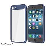 zukabmw iPhone 7 Hülle, Shock-Resistant Accessory Hülle Skin Griff Bumper mit Accessory Schutz Hülle Hülle kompatibel mit iPhone 7 -Blue