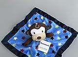 Qsoleil Süße Baumwolle Weiches Tuch Baby Tröster Plüschtier für Kind_Blau