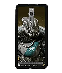 printtech Game Hero Warrior Back Case Cover for Asus Zenfone 2 , Asus Znfone 2 ZE550ML