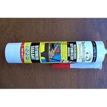 1 X 300ml Tube Black Bitumen Sealant Fix For Roof Gutters
