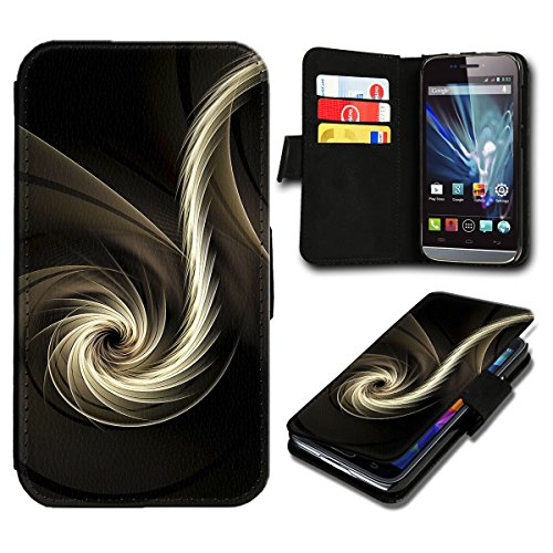 Book Style Huawei Ascend Y635 Premium PU-Leder Tasche Flip Brieftasche Handy Hülle mit Kartenfächer für Huawei Ascend Y635 - Design Flip SV90