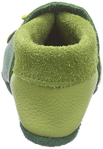 Pololo Pololo Frosch, Chaussons courts, non doublées mixte enfant Vert - Grün (tabaluga 419)