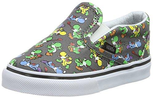 Vans Unisex Baby Classic Slip-On Sneaker, Grau ((Nintendo) Yoshi/Pewter), 21 EU