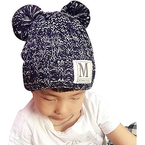 Crochet Gorra Cálido de Punto Beanie Sombrero de Lana Tejer Beanie de Niñas y Niños