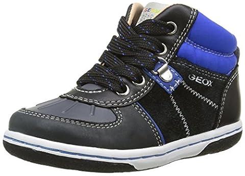 Geox B Flick E, Chaussures Marche Bébé Garçon, Schwarz (Black/ROYALC0245),