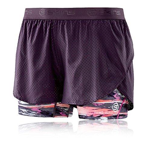 Skins DNAmic Women's Superpose T-shirt Collant Short(s) - SS17 purple