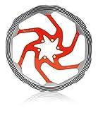XLC, Disco Freno con Anello di Frizione BR-X58 CNC, Rosso (Silber/Rot), ∅ 203 mm