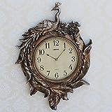 Europei Di Alta Qualità Orologio Da Parete Pavone Antico Orologio A Pendolo Orologio Da Parete Soggiorno Parete Arte
