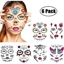Suchergebnis Auf Amazon De Für Halloween Tattoo Gesicht