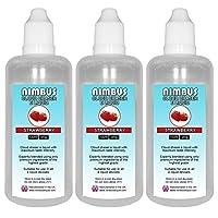 Triple Pack - 3x 100ml Strawberry E Liquid 80/20 Cloud Chaser Vape Juice Sub Ohm Juice Shisha Vape Liquid 0mg eJuice E Cigarette Liquid Ecig Juice (Nimbus E Liquid)