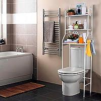Estanteria sobre Inodoro WC Lavadora Ahorra Espacio Almacenamiento Cuarto Baño - mueblesdebanoprecios.eu - Comparador de precios