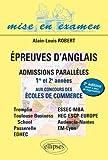 Épreuves d'Anglais - Admissions parallèles 1ère et 2e année aux concours des écoles de commerce