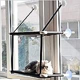 DDAdayub Cat Lounger Cat Hammock Bed Mount Window Cat Lounger Ventosas Cama Tibia para Mascotas Casa de Descanso para Gatos Suave Cama cómoda @ Doble Capa