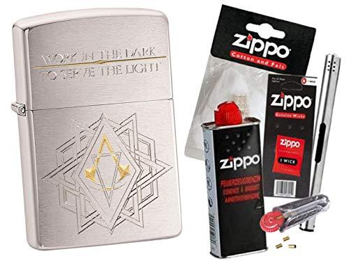 Zippo Assassin´s Creed Work mit Zippo Zubehör Auswahl und L.B Chrome Stabfeuerzeug (mit Zubehör B)