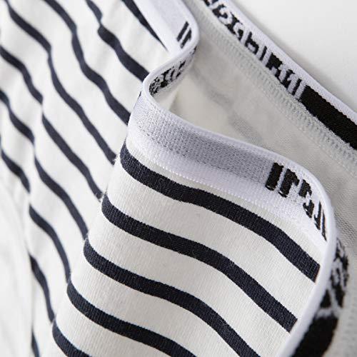 INNERSY Damen Unterhosen Baumwolle Taillenslips Mädchen Streifenmuster 6er Pack (46, Mehrfarbig Streifen) - 4