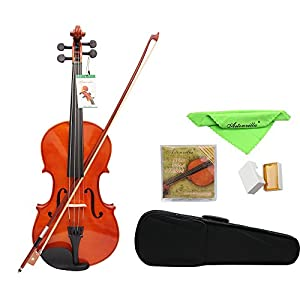 Andoer® 4/4 Full Size Solid Maple Viola of 16 Inch with Case Bow Bridge Rosin and Strings