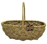 east2eden Honey Wicker Garden Flower Vegetable Trug Basket in Choice of Sizes (Small)