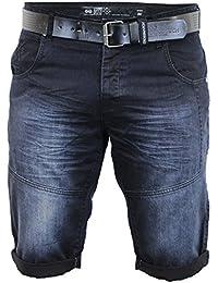 Shorts En Jean Pour Hommes Crosshatch CEINTURE Longueur Genou Roulé décoloré DécontractéÉté Neuf