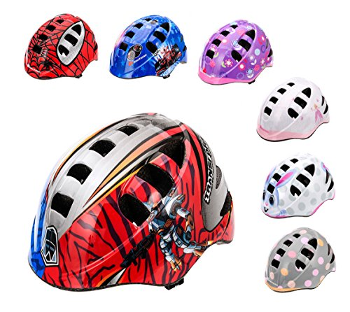 Meteor Casque de vélo pour enfant, casque de skater, casque de sécurité S Motif robot