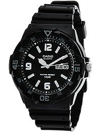 Casio - MRW-200H-1B - Casual - Montre Homme - Quartz Analogique - Cadran Noir - Bracelet Résine Noir