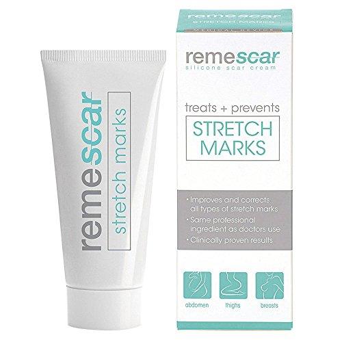 Remescar Stretch Mark Creme | Gegen Dehnungsstreifen Und Narben | Für Schönere & Glattere Haut | Beruht Auf Silikon-Basis | Natürliche Inhaltsstoffe
