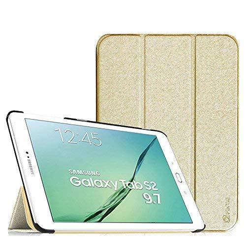 Fintie Hülle für Samsung Galaxy Tab S2 9.7 T810N / T815N / T813N / T819N 24,6 cm (9,7 Zoll) Tablet-PC - Ultra Schlank Ständer Cover Schutzhülle mit Auto Schlaf/Wach Funktion, Gold